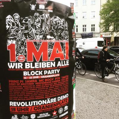 Berlin demo 1.Mai 2017 Wir bleiben alle