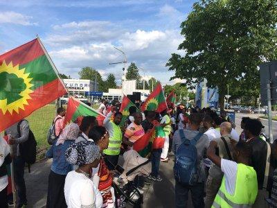Oromo Protest gegen Abschibungen inTrudering