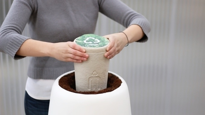 The Bio urn is 100% biodegradable. People can choose to use all of the ashes or just a portion.