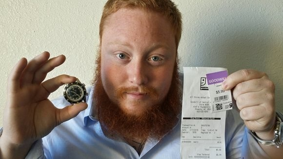 He found an original LeCoultre Deep Sea alarm at Goodwill for $5.99. It's worth $35,000.