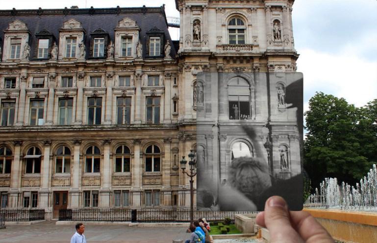 President De Gaulle at the Hotel De Ville.