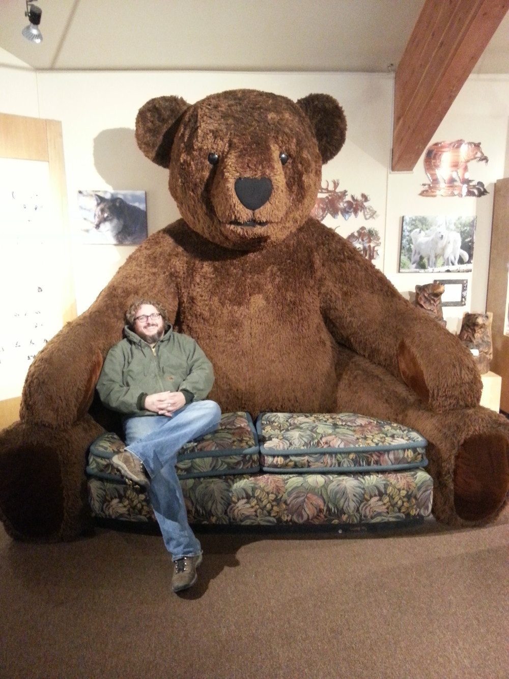 A bear of a couch.