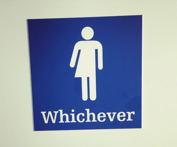 Gender neutral bathrooms are the future.