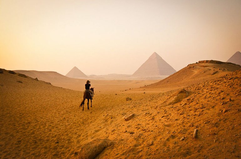 Visiting Pyramids Of Giza In Cairo, Egypt
