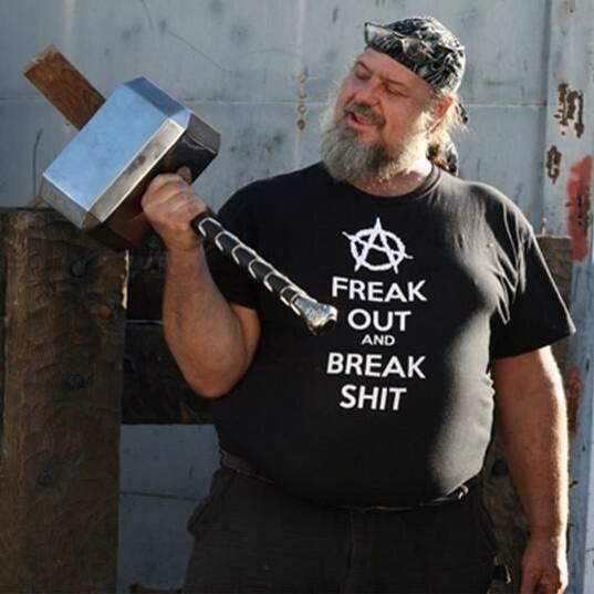 A wannabe Thor.