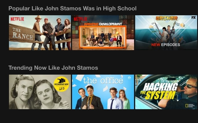 Actor John Stamos took over Netflix and made it all about himself.