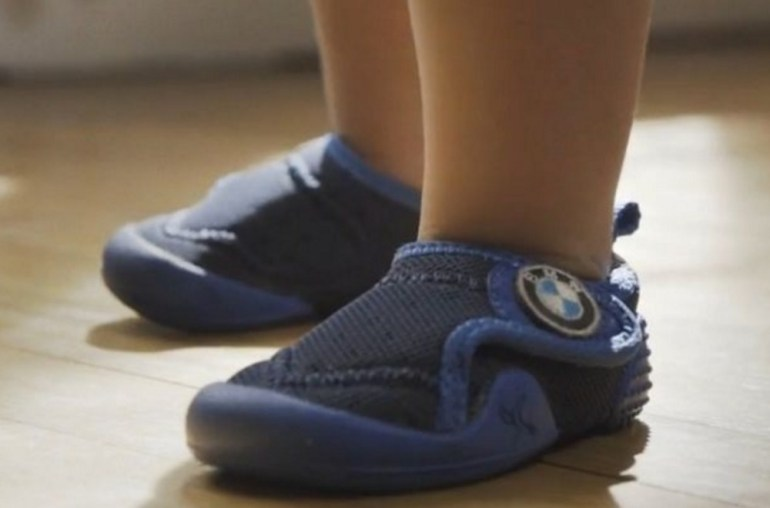 BMW is getting into the baby business. They have released the stylish xDrive Baby Boots which come with traction sole control.