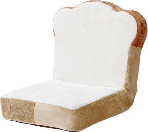 A floor chair that looks like bread would look great in your den.