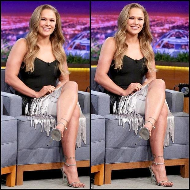 Ronda Rousey is known for her muscles, so what's the point in trimming them as shown here?