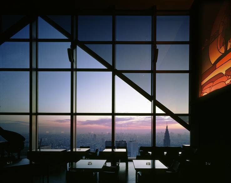 The New York Bar is on the 52nd floor in the Park Hyatt hotel in Tokyo, Japan.