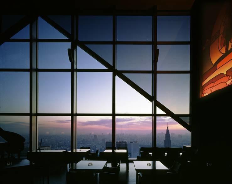 The New York Bar is on the 52nd floor in the Park Hyatt hotel in Tokyo, Japan.