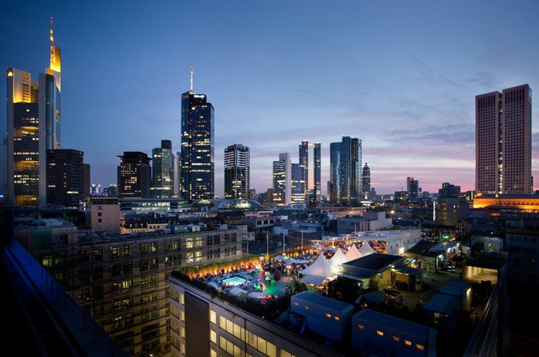 The Long Island Summer lounge is only open during the summer season in Frankfurt, Germany.