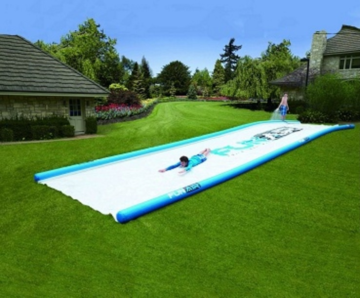 A 50-foot slip-and-slide is obviously the most important purchase you'll ever make.