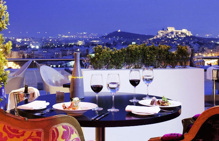 The Galaxy Restaurant & Bar at Hilton in Athens, Greece is considered one of the best rooftop bars in the world.