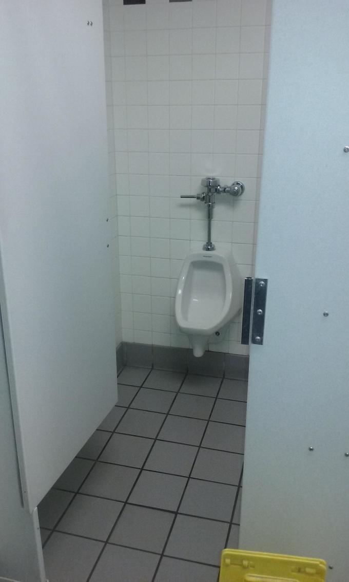 A urinal inside a stall?