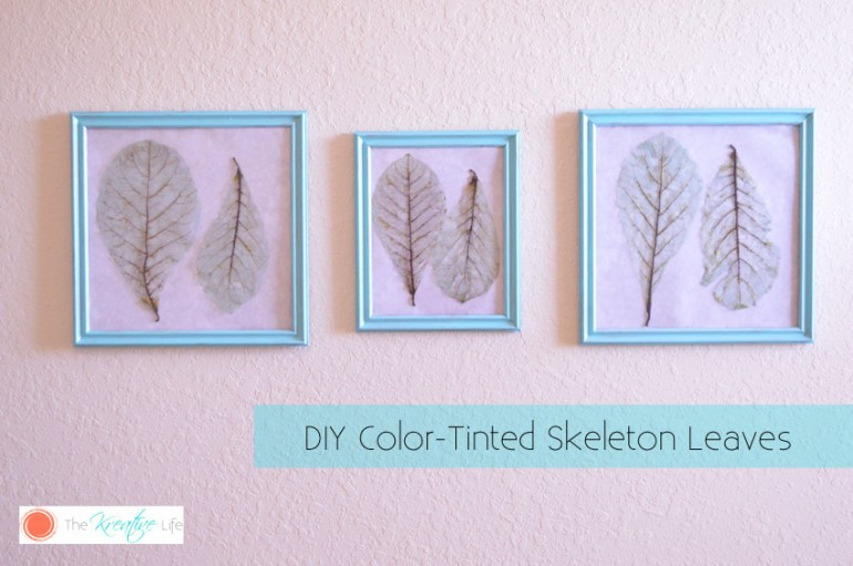 Create art that you can hang up from leaves you can find laying around in front of your home.