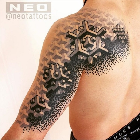 A highly detailed geometric design.