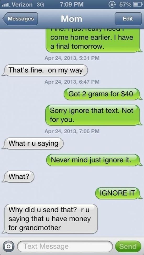 Money for grandma, sure.