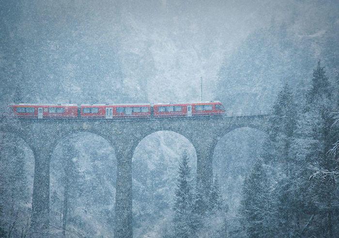 Blizzard In The Mountains, Switzerland