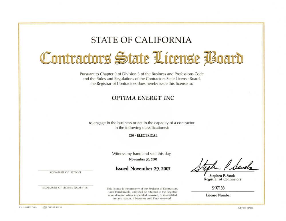 Contractors-License