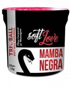 Soft ball triball Mamba Negra - Super Excitante c 3 unidades - Soft Love