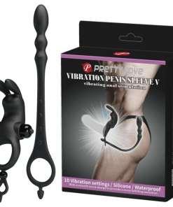 Anel Peniano com 12 vibrações e Plug Anal estimulador de Próstata