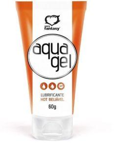Gel Lubrificante Aqua Gel BEIJÁVEL - Hot - 60g