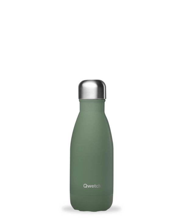 Bouteille isotherme Qwetch vert kaki 260ml
