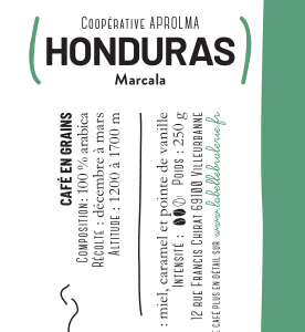 café bio vrac honduras