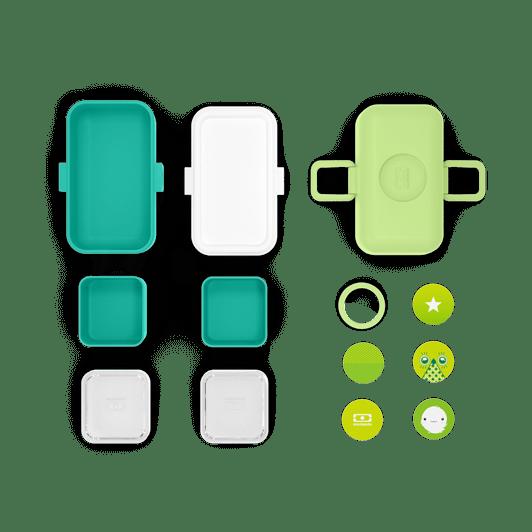 mon bento- box repas - enfant vert