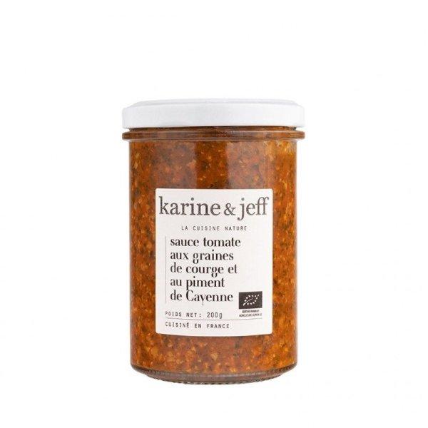 sauce-tomate-graines-de-courge-piment-de-cayenne bio artisanal