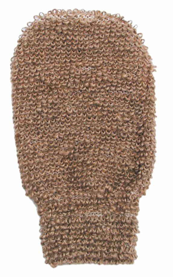 Gant de jute et coton pour le gommage
