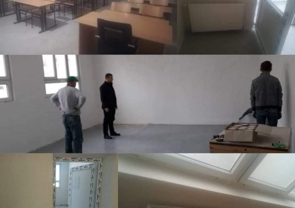 """Vazhdon përmirësimi i infrastrukturës në shkollën """"Shaban Shabani"""" në Dragash."""