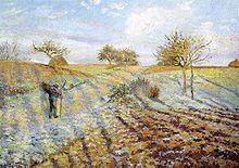Camille Pissarro - Gelée blanche, 1873
