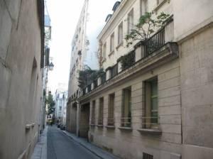 Ulica Visconti, dawniej Marais-Saint Germain, gdzie pod numerem 19 mieściło się mieszkanie i atelier Eugène'a Delacroix