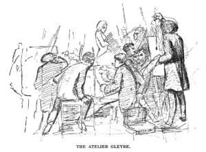 """Ilustracja z książki Felixa Moscheles'a 1896 """"In bohemia with du Maurier"""""""