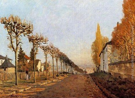 """""""Ulica de la Machine, Louveciennes"""" 1873 – Alfred Sisley"""