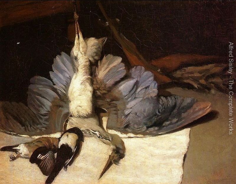 """""""Martwa natura z czaplą"""" 1867 – Alfred Sisley"""