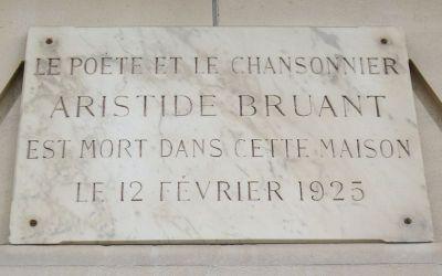 Aristide Bruant – tablica upamiętniająca