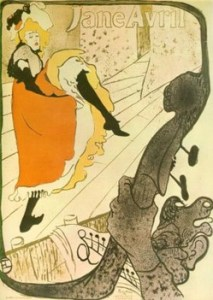Jane Avril - Toulouse-Lautrec -1893 - litografia