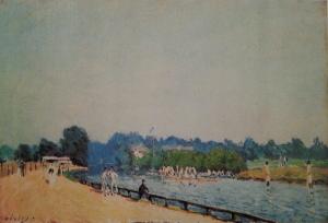 Droga z Hampton Court do Molesey - wersja z prywatnej kolekcji