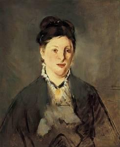 Edouard Manet - Portret Pani Manet, 1874 - 1876, Noton Simon Museum