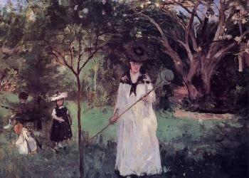 """Polowanie na motyle"" 1874 – Berthe Morisot"
