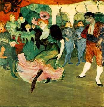"""Życie nocne wg Tolouse Lautrec'a """"Marcel Lender tańcząca w """"Chilperic"""" 1896"""