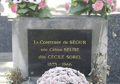 Tablica nagrobkowa - Cecile Sorel