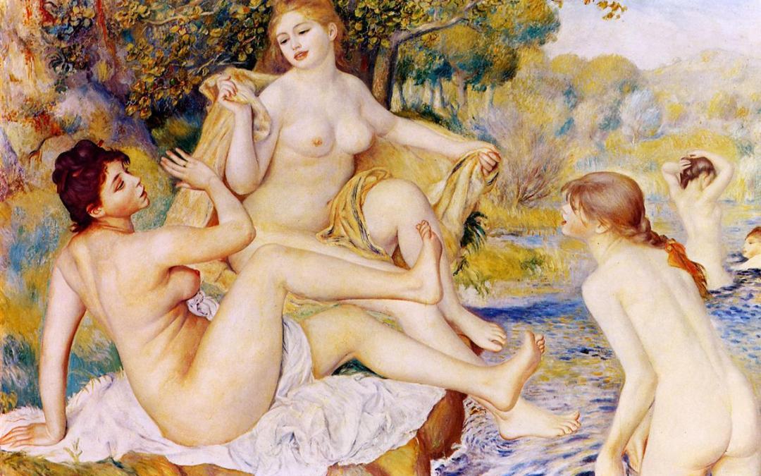 """""""Wielkie kąpiące się"""" 1887 Auguste Renoir"""