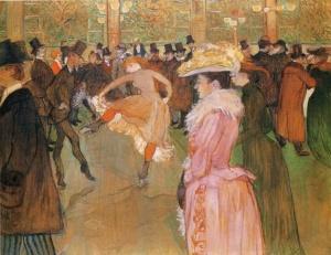 Valentin le Desosse ustawia nowe (tancerki) 1889-1890 Henri de Toluouse Lautrec