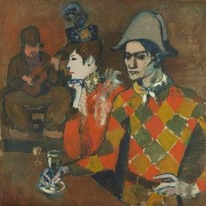 """""""W Lapin Aguile"""" Pablo Picasso 1905 - w tle na gitarze Frede."""