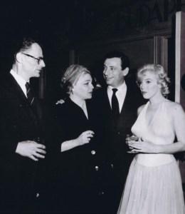 Maż Marylin Monroe - Arthur Miller, Simone Signoret, Yves Montand, Marilyn Monroe.