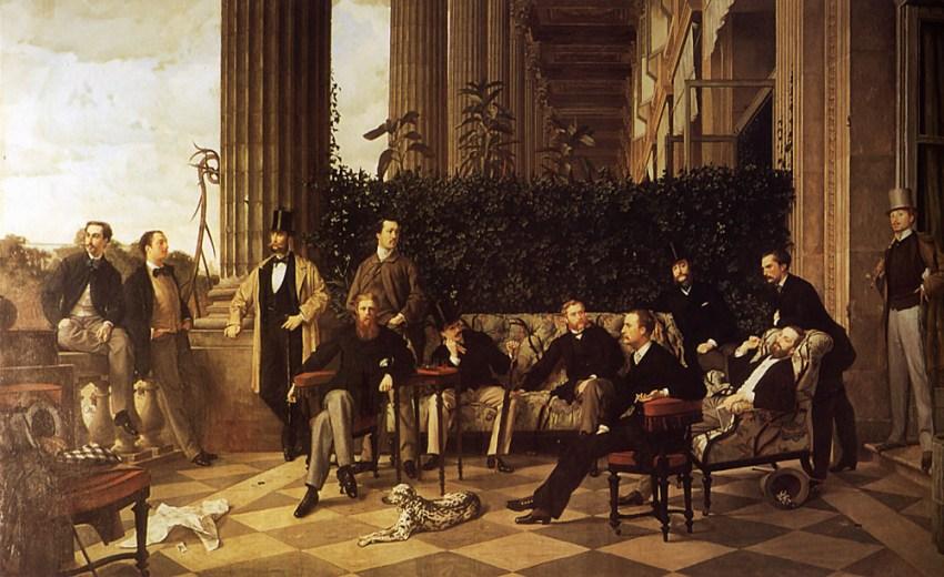 Obraz Jams'a Tissot z 1868 roku, 175 × 281 cm, Museum d'Orsey